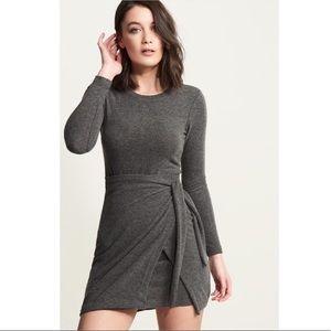 Dynamite Grey Tie / Knot Sweater Dress